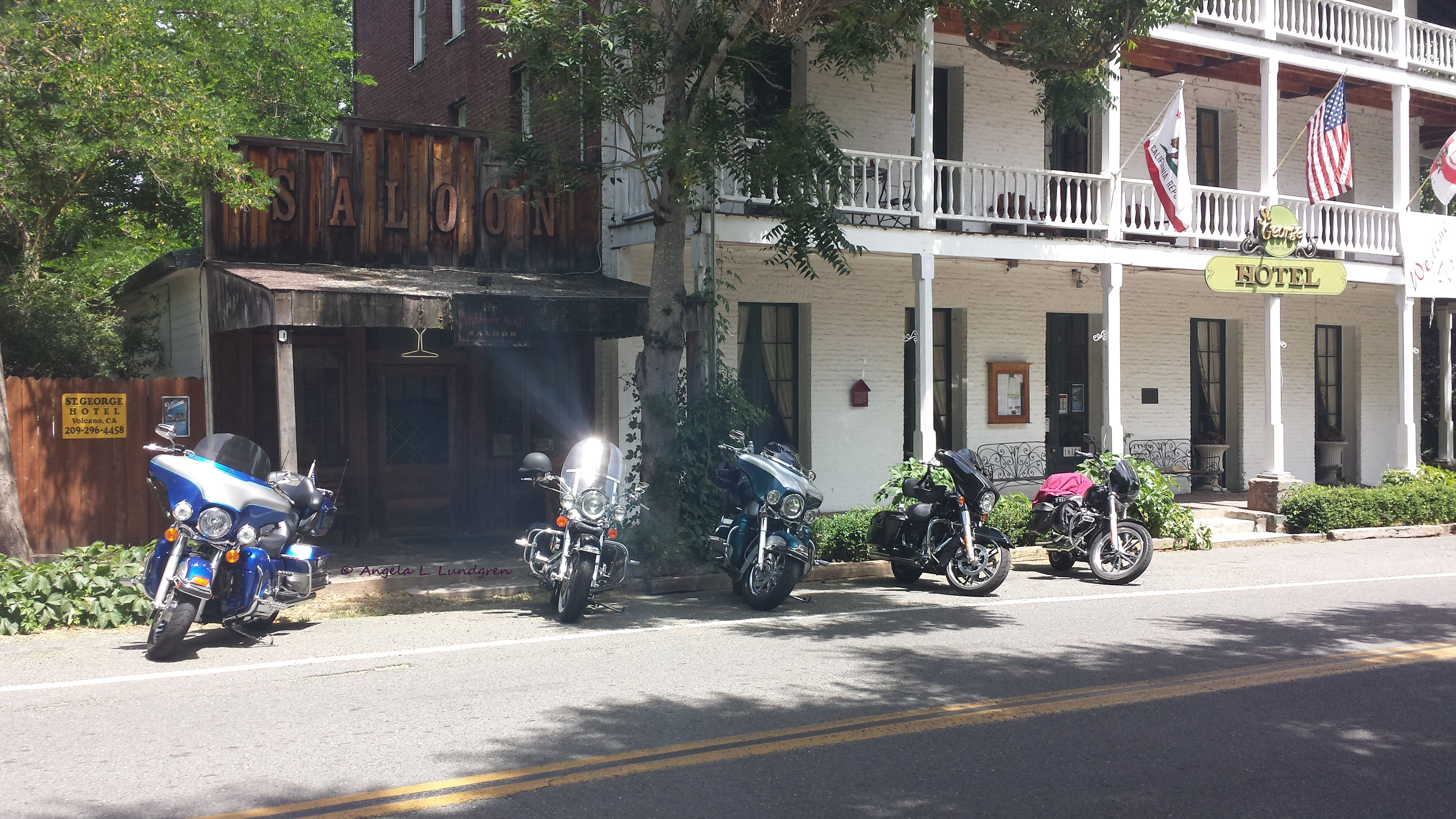 Poker Ride Stop at the Historic St. George Hotel and Whiskey Flat Saloon