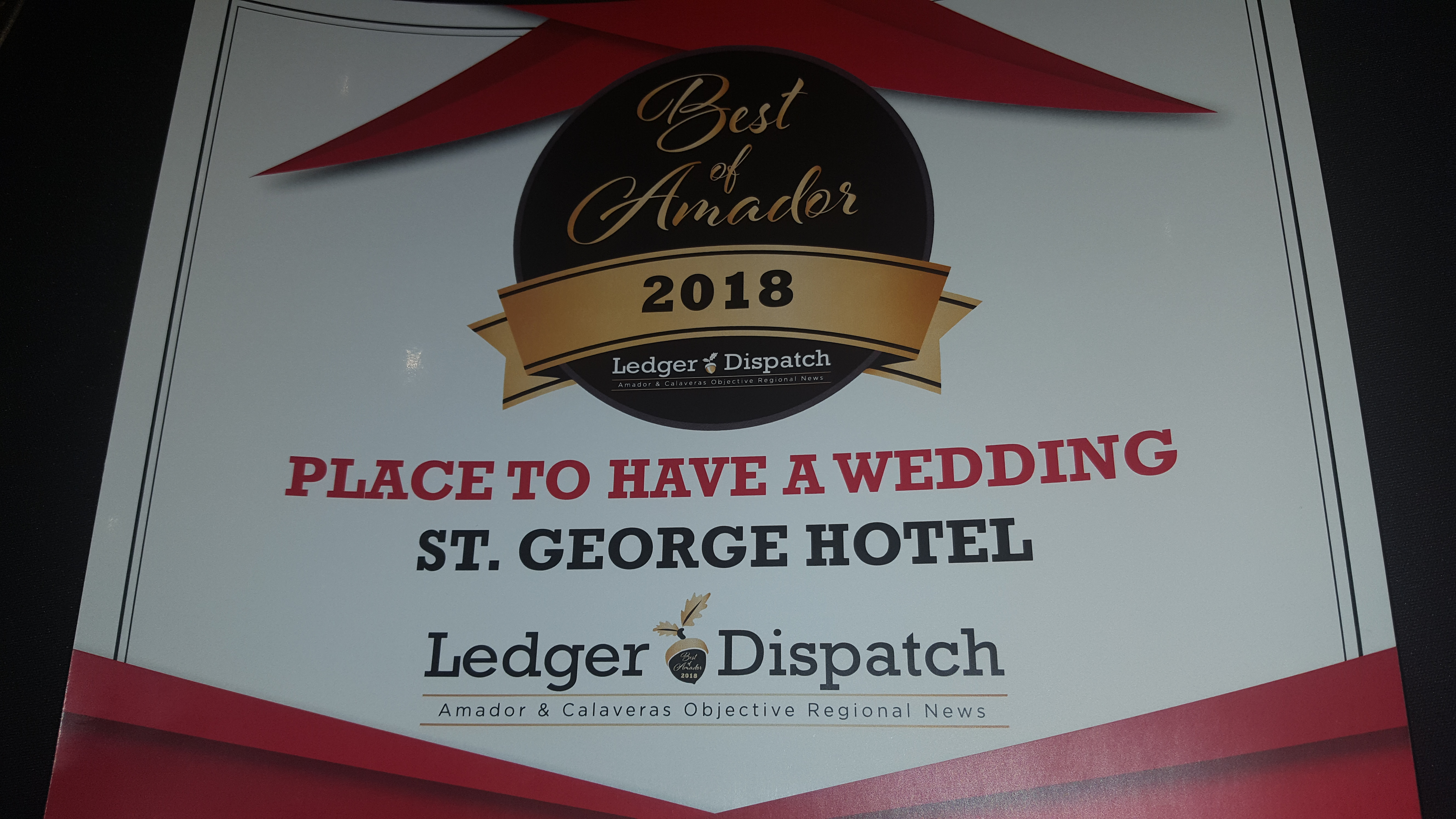 2018 Ledger Dispatch - Best Place in Amador County To Have a Wedding