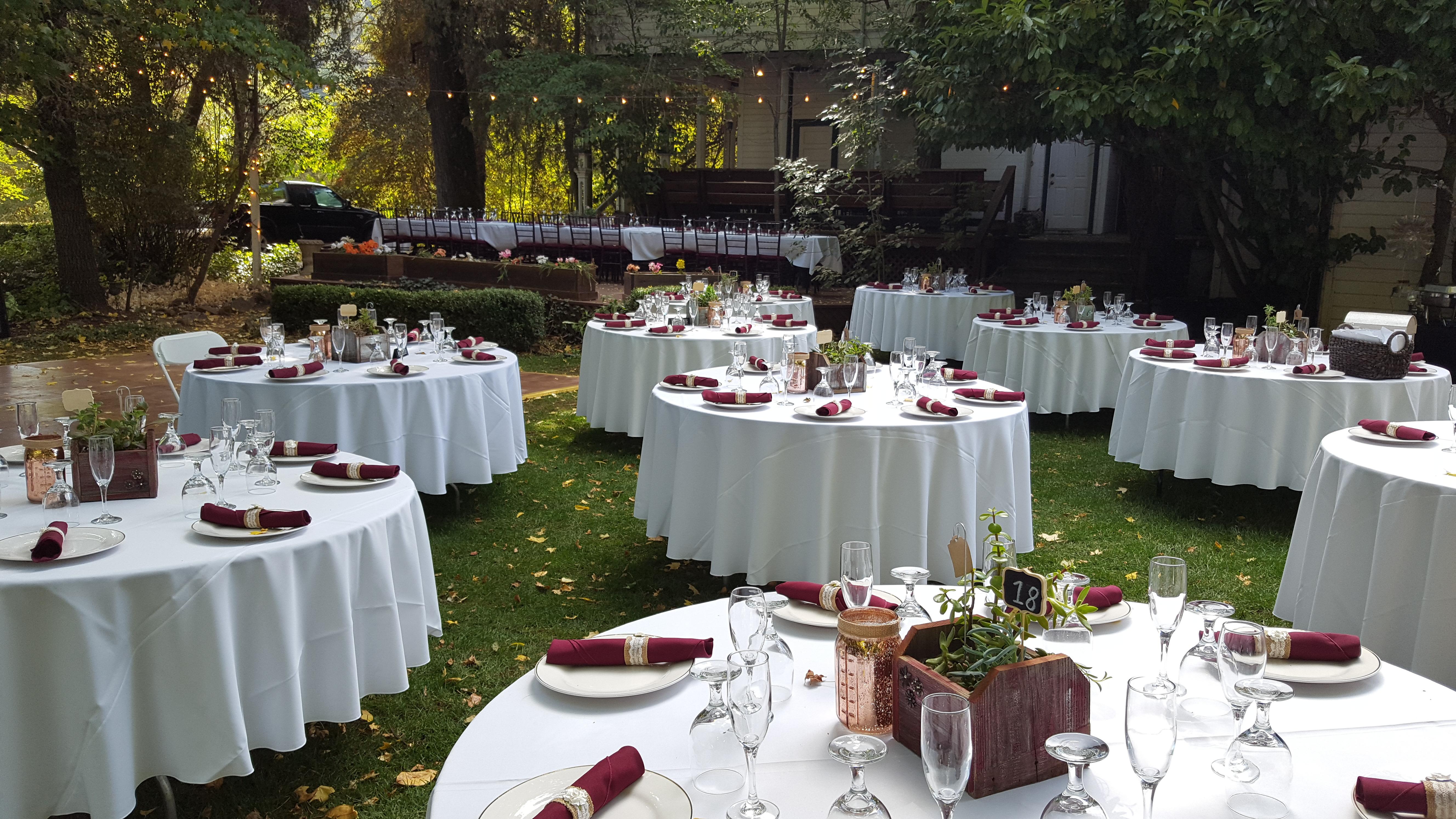 Wedding Tables In the Garden